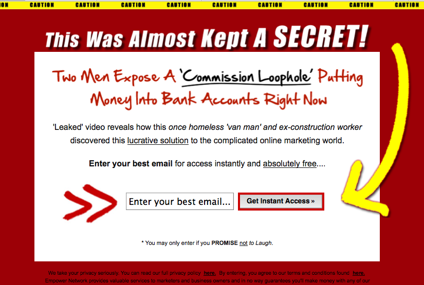 Empower Network Lead Capture Page