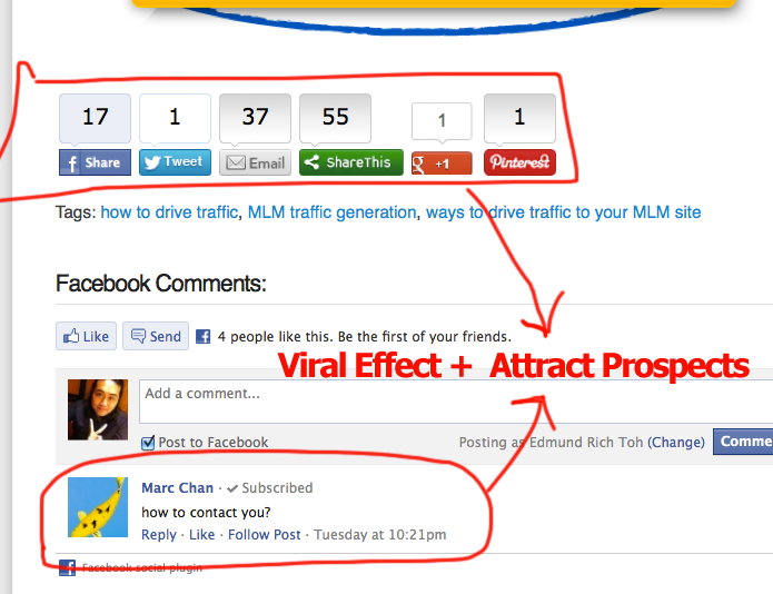 Viral Effect Using Share This