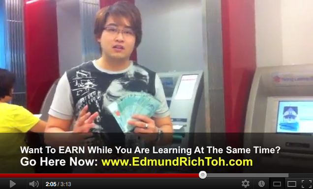 Empower Network ATM Cash Withdrawal - Edmund Toh