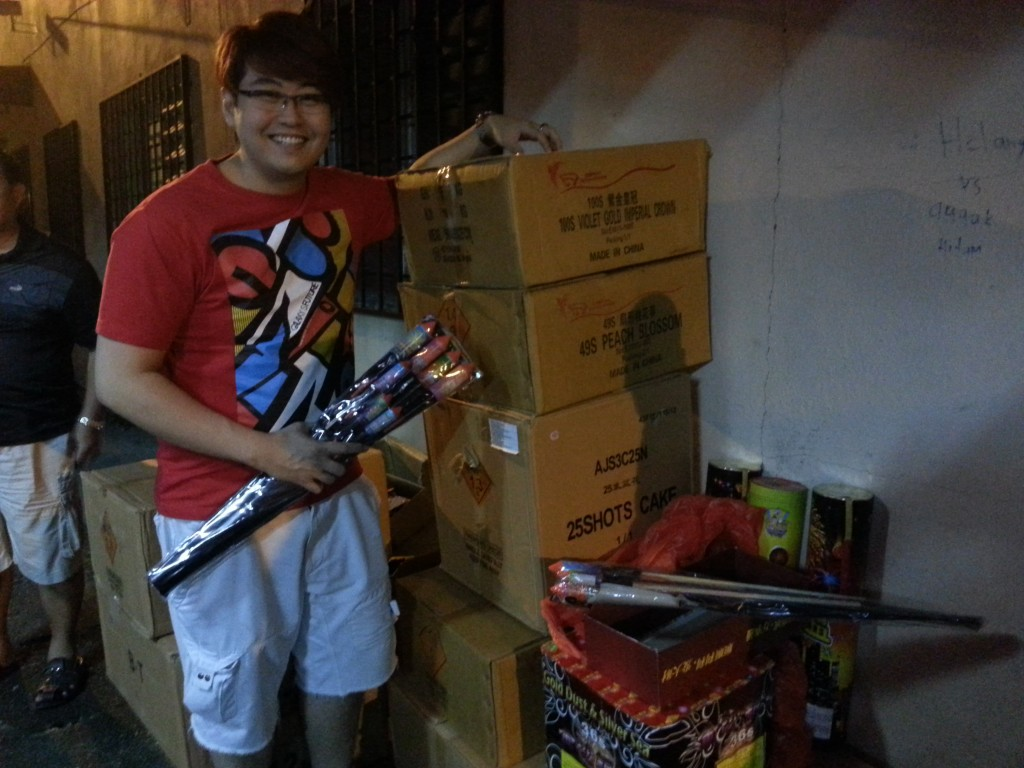 Edmund Toh Preparing for Fireworks
