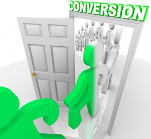 Converting Prospects into Customers People Through Doorway