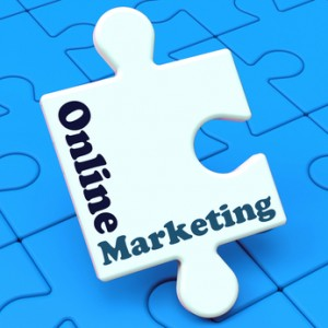 Online Marketing Showing Internet Strategies And Development