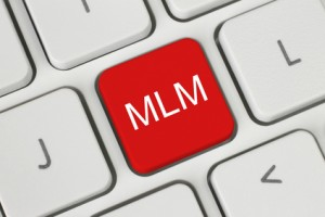 Red MLM (Multi Level Marketing) button