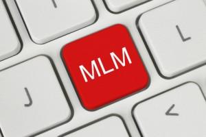 Red MLM (Multi Level Marketing) button