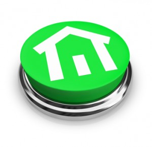 House on Round Green Button