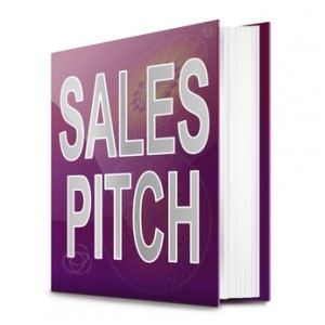 Sales pitch book.
