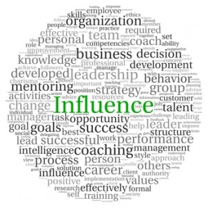 Influence concept in word tag cloud