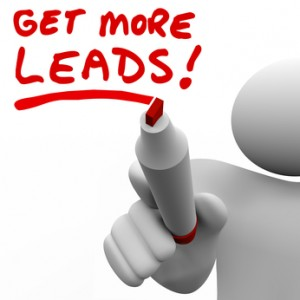 Get More Sales Leads Salesman Writing Words Increase Selling