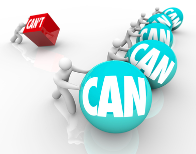 Can Vs Cant People Competing Winners Loser Attitude