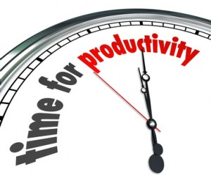 Time for Productivity Clock Efficiency Working Get Results Now