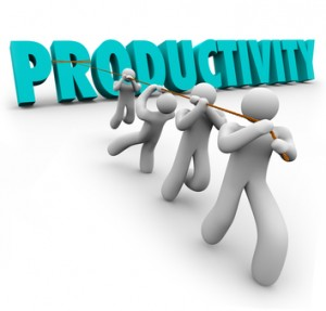 Productivity Word Pulled Lifted Workers Improve Increase Output