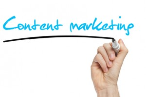 Hand writing Content Marketing