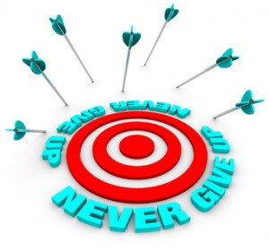 Arrows Miss Bulls-Eye - Never Give Up