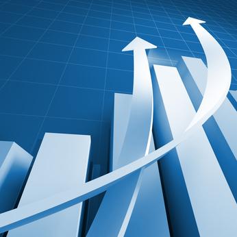 Business chart graph