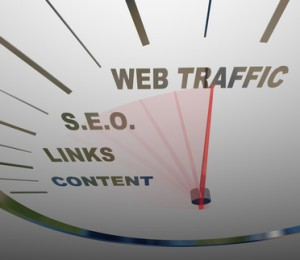 Web Traffic SEO Links Speedometer Online Growth