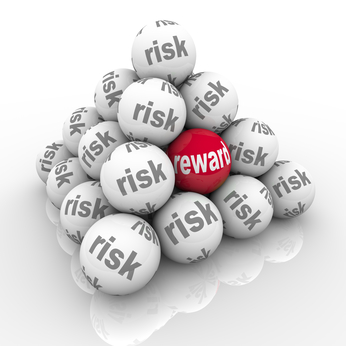 Risk Vs Reward Pyramid Balls Return on Investment
