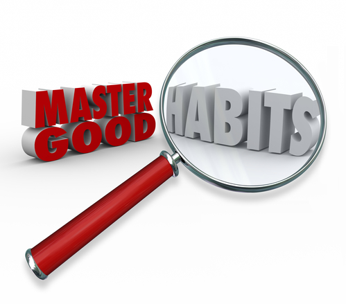 Master Good Habits Words 3d Magnifying Glass