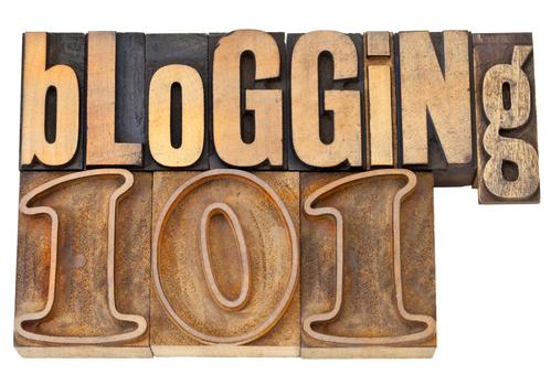 blogging 101 in wood type